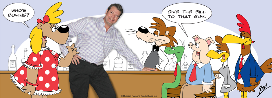 The cartoonist Richard Parsons
